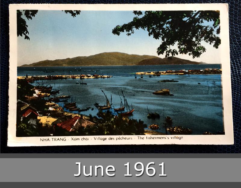 Project Postcard June 1961 - Saigon Vietnam Nha Trang fishermens village front