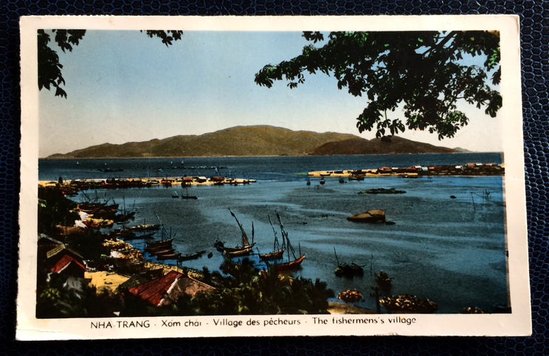 Project Postcard June 1961 - Saigon Vietnam Nha Trang fishermens village