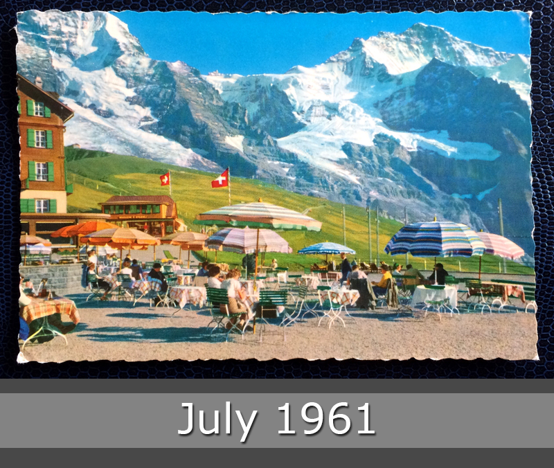 Project Postcard July 1961 - Little Scheidegg in Schwitzerland front