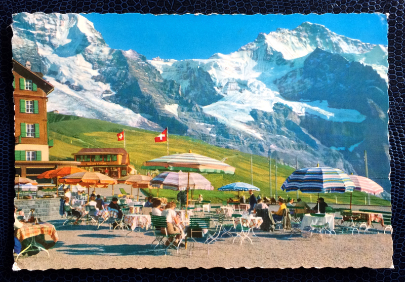 Project Postcard July 1961 - Little Scheidegg in Schwitzerland