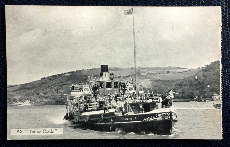 "Project Postcard August 1961 - boat P.S. ""Totnes Castle"" UK Great Britain"