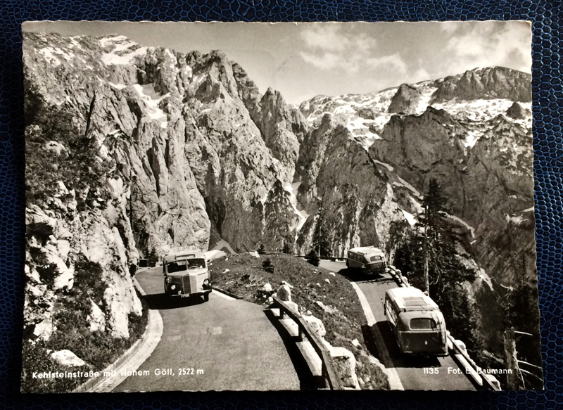 Project Postcard September 1961 - Kehlsteinstraße winding road in the alps Bavaria Germany