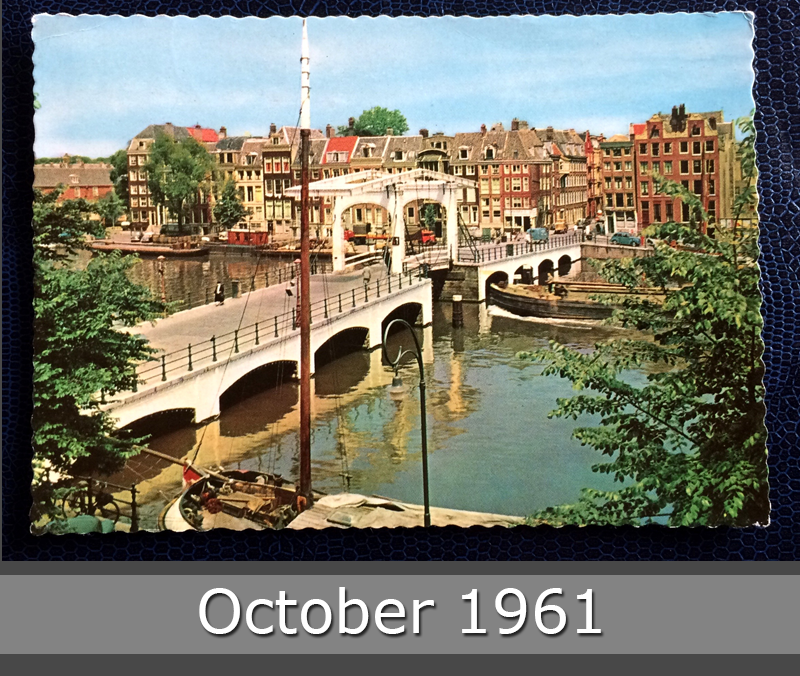 Project Postcard October 1961 - Amsterdam canals Netherlands Nederland front