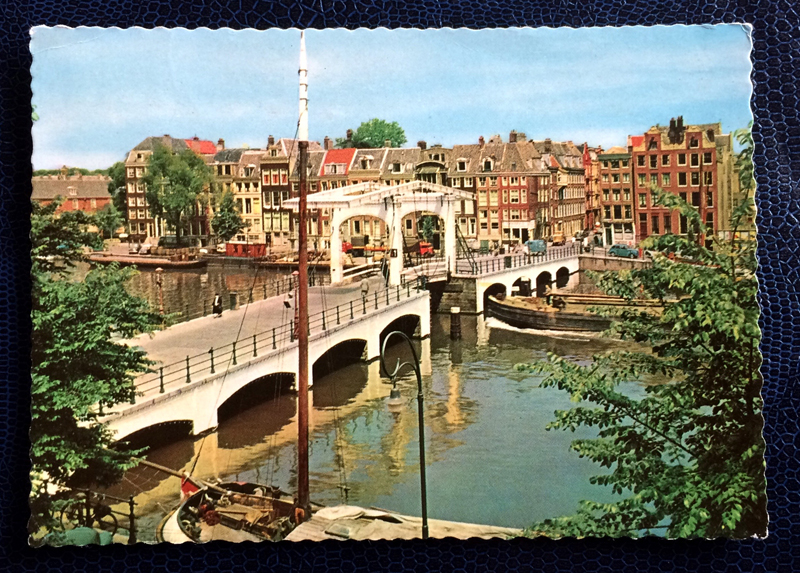 Project Postcard October 1961 - Amsterdam canals Netherlands Nederland