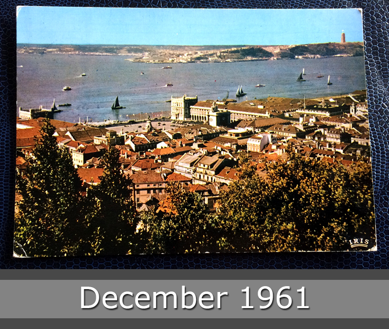 Project Postcard December 1961 - Portugal Lisbon Lisboa with Tagus River front