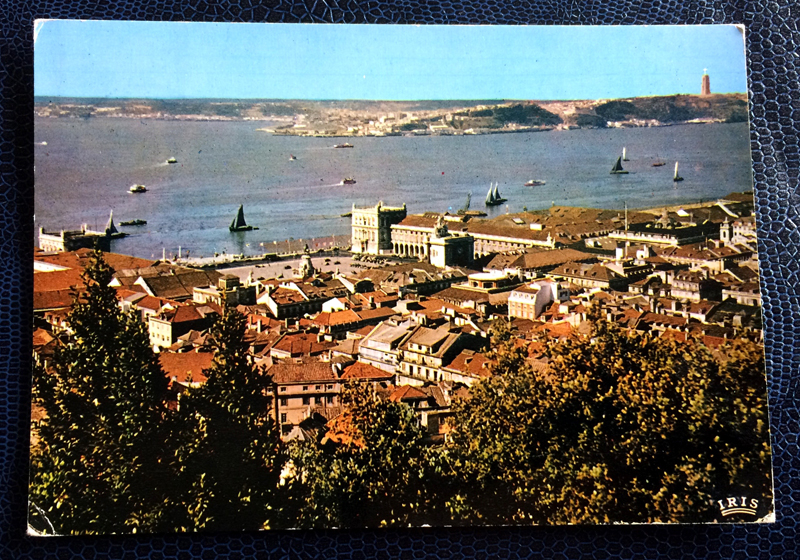 Project Postcard December 1961 - Portugal Lisbon Lisboa with Tagus River