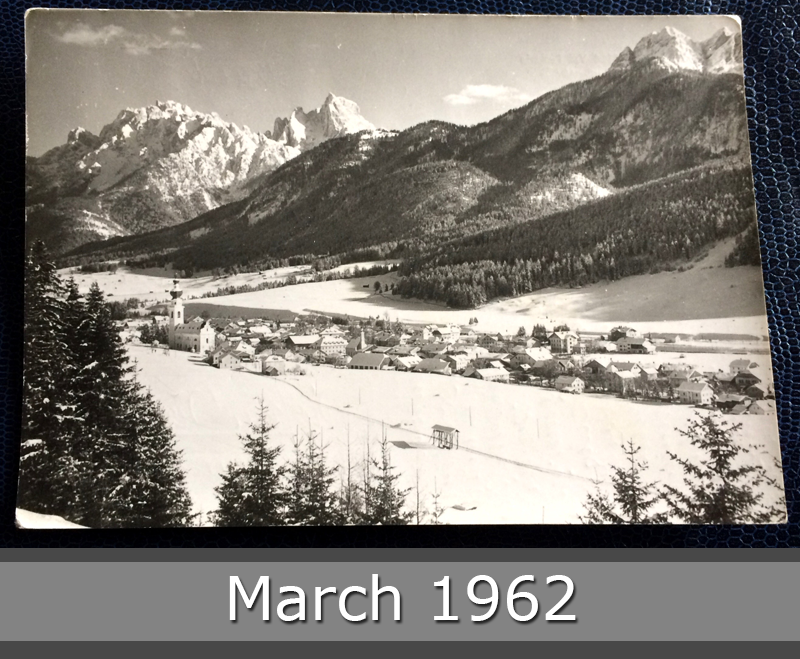 Project Postcard March 1962 - Winter in the Pustertal Dolomites South-Tirol front