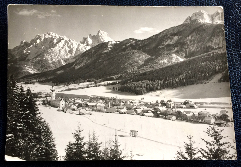 Project Postcard March 1962 - Winter in the Pustertal Dolomites South-Tirol