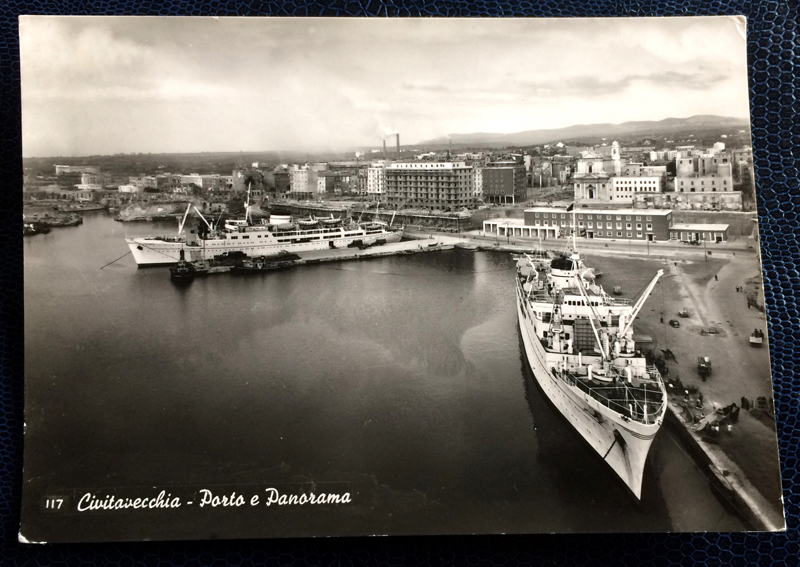 Project Postcard May 1962 - Port of Civitavecchia Italy