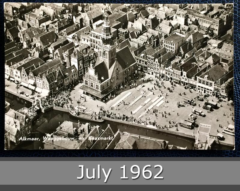 Project Postcard July 1962 - Alkmaar Kaasmarkt Netherlands Nederland front