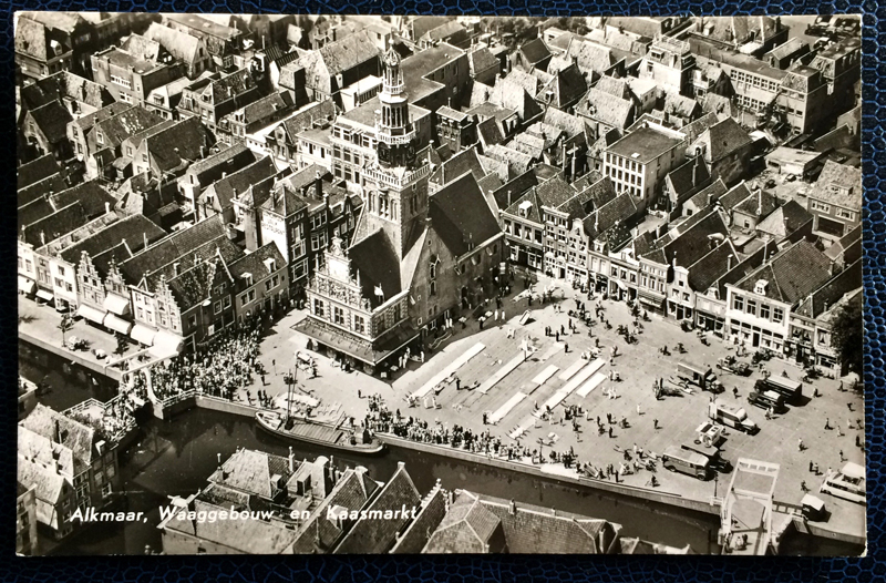 Project Postcard July 1962 - Alkmaar Kaasmarkt Netherlands Nederland
