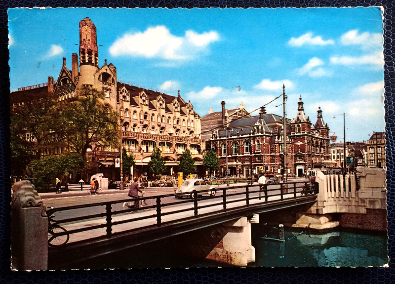 Project Postcard August 1962 - Amsterdam Leidseplein canals Netherlands Nederland