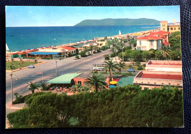 Project Postcard September 1962 - Marina di Massa Avenue along the sea Italy