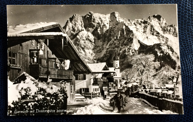 Project Postcard January 1963 - Garmisch-Partenkirchen Bavaria Germany Dreitorspitze alps