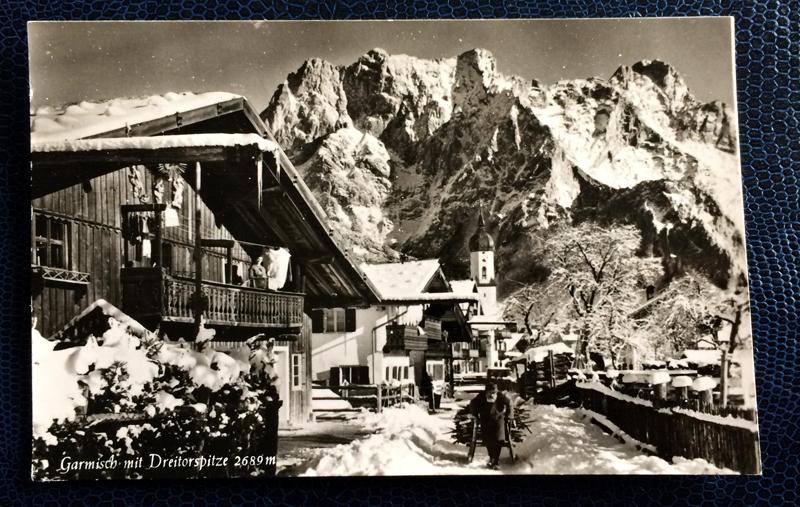 Project Postcard January 1963 - Garmisch-Partenkirchen Bavaria Germany Dreitorspitze alps