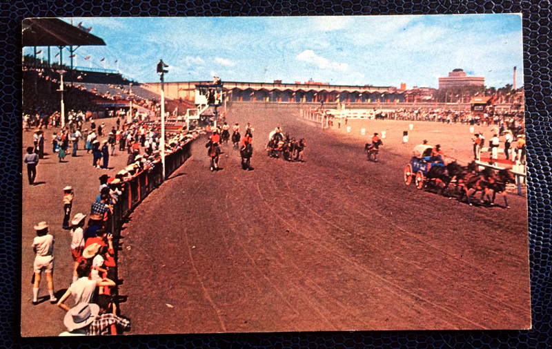 Project Postcard March 1963 - The famous Chuck Wagon Races in Calgery, Alberta, Canada