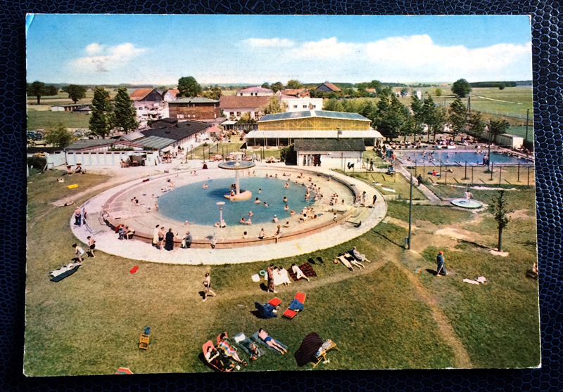 Project Postcard April 1963 - thermal baths in Füssing Bavaria Germany