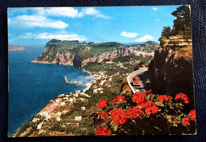 Project Postcard May 1963 - Capri General view Italy