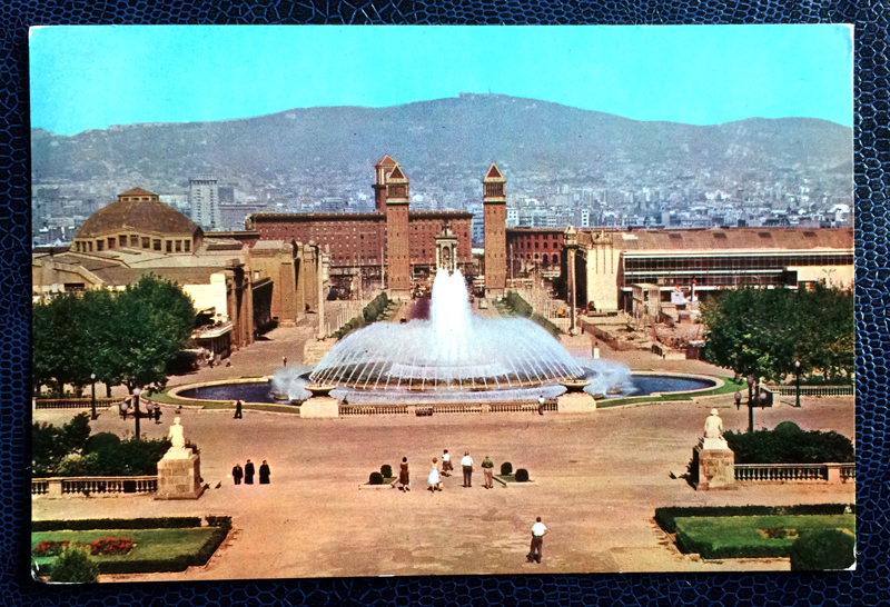 Project Postcard September 1963 - Barcelona, Spain, Fountain of Montjuich