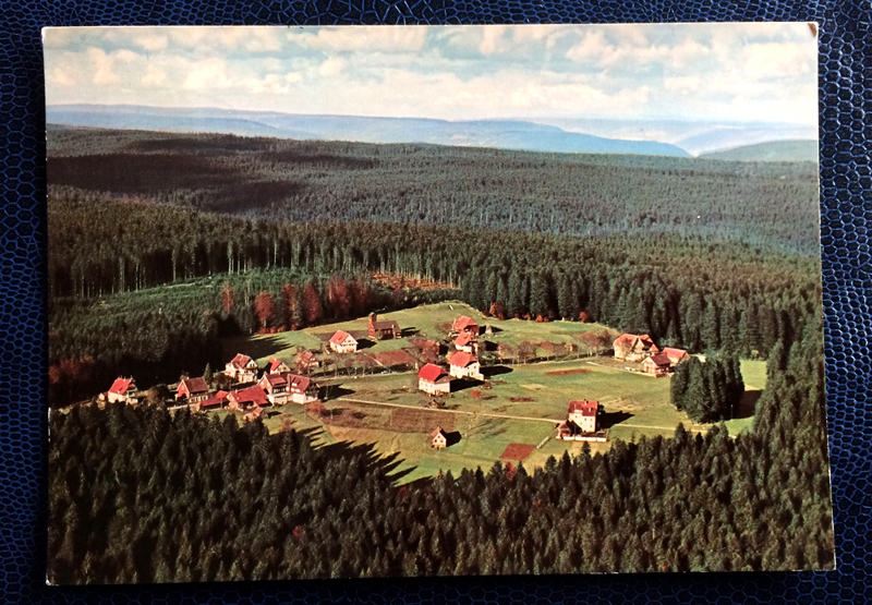 Project Postcard October 1963 - Zwieselberg near Freudenstadt in the alps in Bavaria, Germany