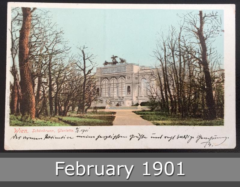Project Postcard February 1901 - Vienna Wien Austria Schönbrunn front