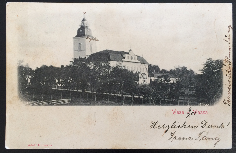Project Postcard July 1901 - Waasa Wasa Vasa Finland Church