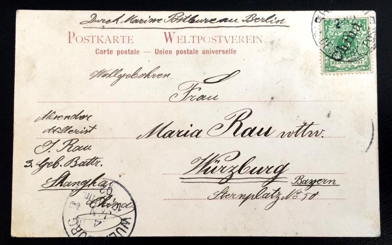 Project Postcard November 1901 - Mandarins Chair Shanghai China back