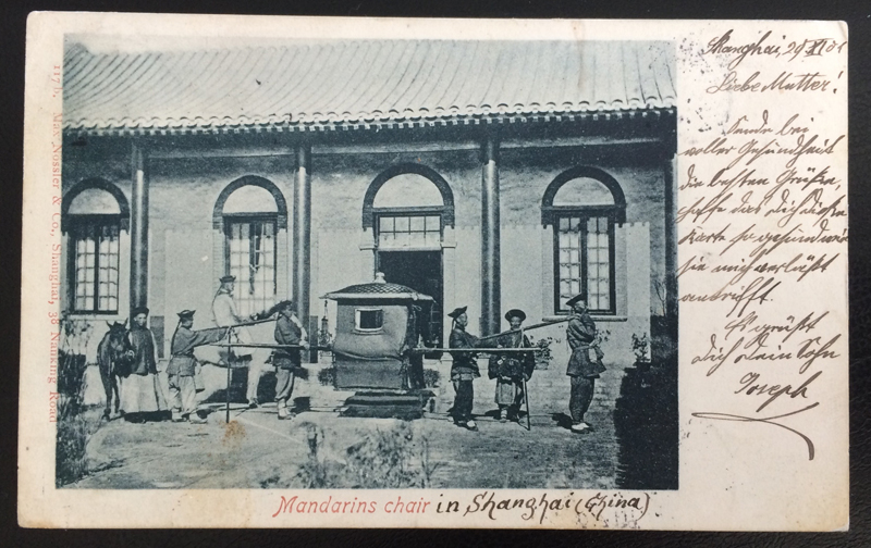 Project Postcard November 1901 - Mandarins Chair Shanghai China front