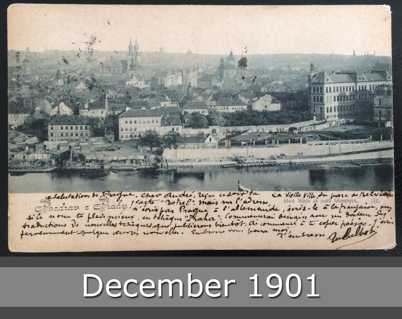Project Postcard December 1901 - Prague Praha front okay
