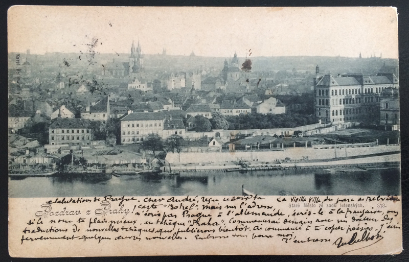 Project Postcard December 1901 - Prague Praha front