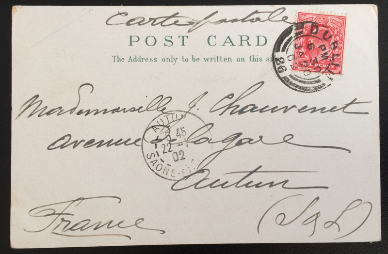 Project Postcard January 1902 - Dublin Ireland back