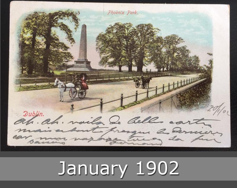 Project Postcard January 1902 - Dublin Ireland front okay