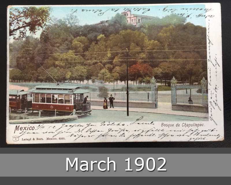 Project Postcard March 1902 - Mexico City Tram front okay