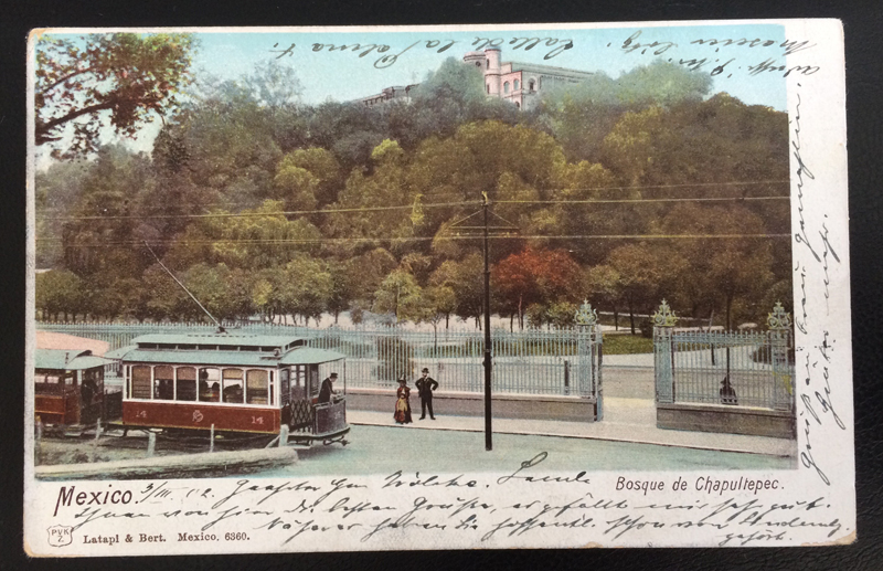 Project Postcard March 1902 - Mexico City Tram front