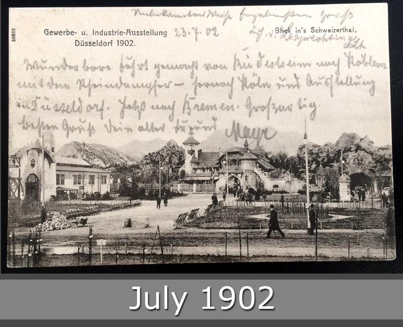 Project Postcard July 1902 - Dusseldorf Düsseldorf Germany Gewerbeausstellung front okay