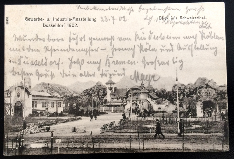 Project Postcard July 1902 - Dusseldorf Düsseldorf Germany Gewerbeausstellung front