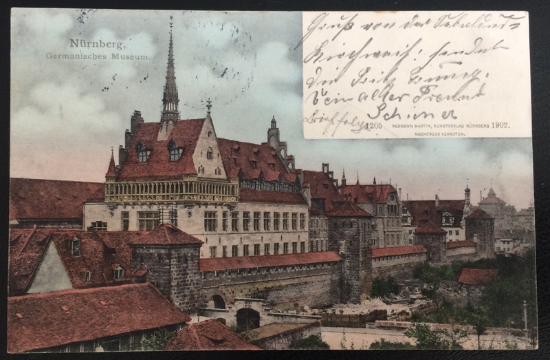 Project Postcard August 1902 - Nuremberg Nürnberg Germany Museum front
