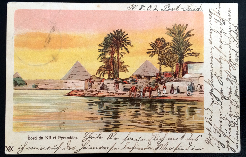 Project Postcard September 1902 - Egypt Pyramides front