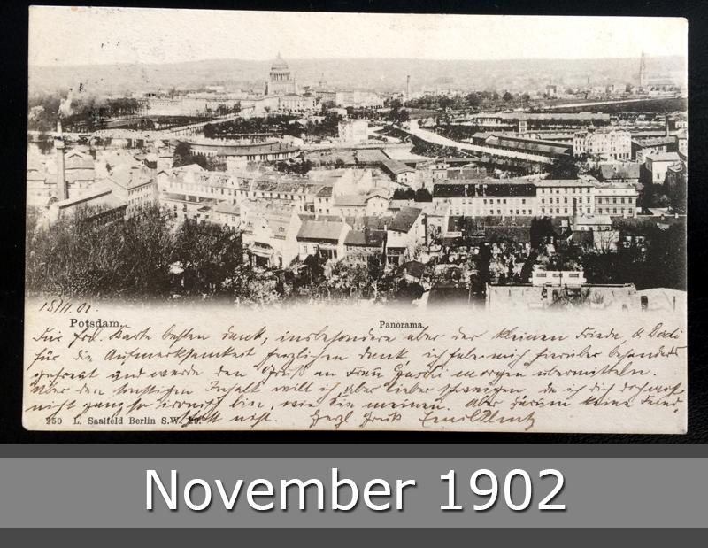 Project Postcard November 1902 - Potsdam Germany front okay